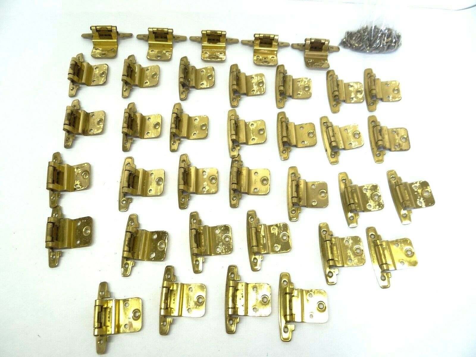 Mengenangebot Küchenschrank Scharniere Teile Messing Metall Hergestellt in Japan