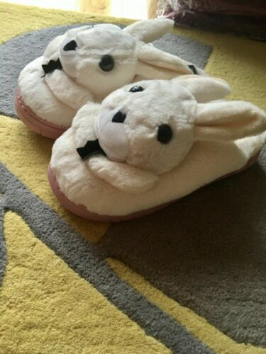 RESTOCKED Cute Rabbit warm plush winter slippers Bunny dog house shoes cozy