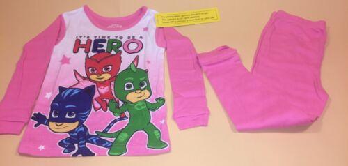 PJ Masks Toddler Girl Long Sleeve Shirt /& Pants Pajamas New 2T