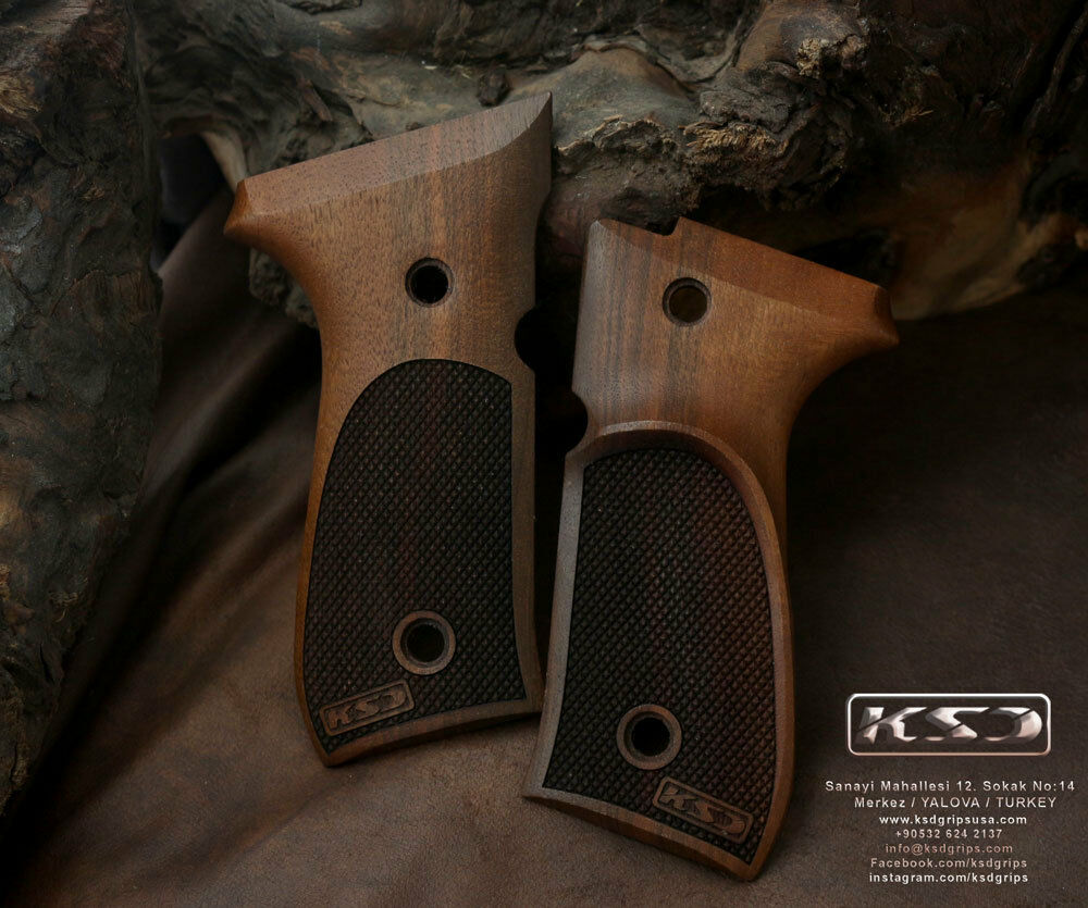 Beretta 92FS 96 98 M9 Agarre  De Nogal Con fingergrooves  las mejores marcas venden barato
