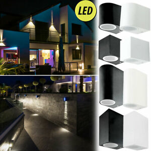 Luxus RGB LED Außen Bereich Wand Leuchte ALU Spot Garten DOWN Lampe DIMMBAR