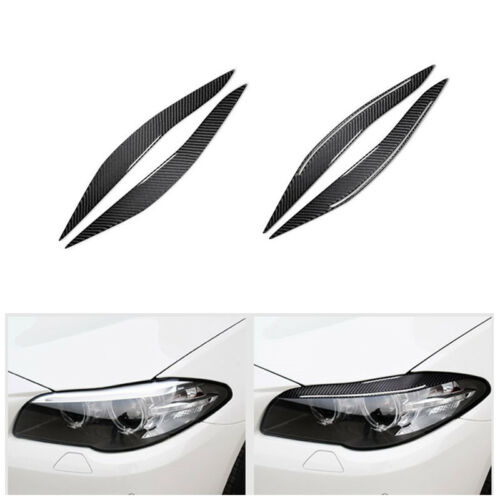 ABS Carbon Fiber styling Car outside Headlights Eyebrows Eyelids for BMW F10 5