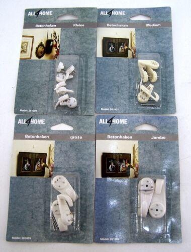 Betonhaken Wandhaken Betonnägel ohne Bohren 17 tlg verschiedene Größen