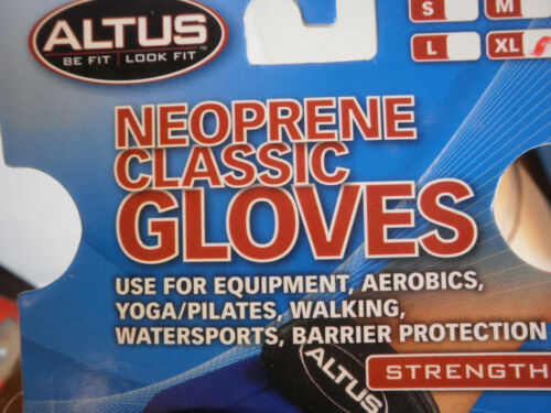 Altus Neoprene Weightlifting Gloves Watersports Workout Gym Biking New Fit Glove