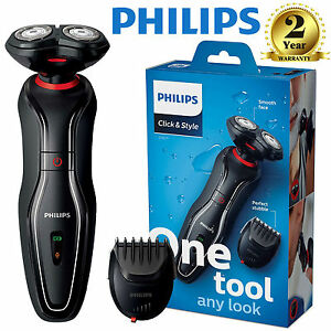 philips click and style mens cordless electric shaver beard trimmer s720 17 ebay. Black Bedroom Furniture Sets. Home Design Ideas