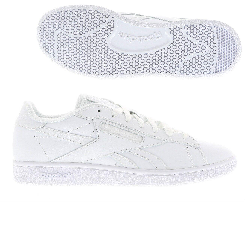 Reebok NPC UK TX  Uomo Trainer Schuhe  Größe 7.5 9 Weiß  Schuhe /- 51107b