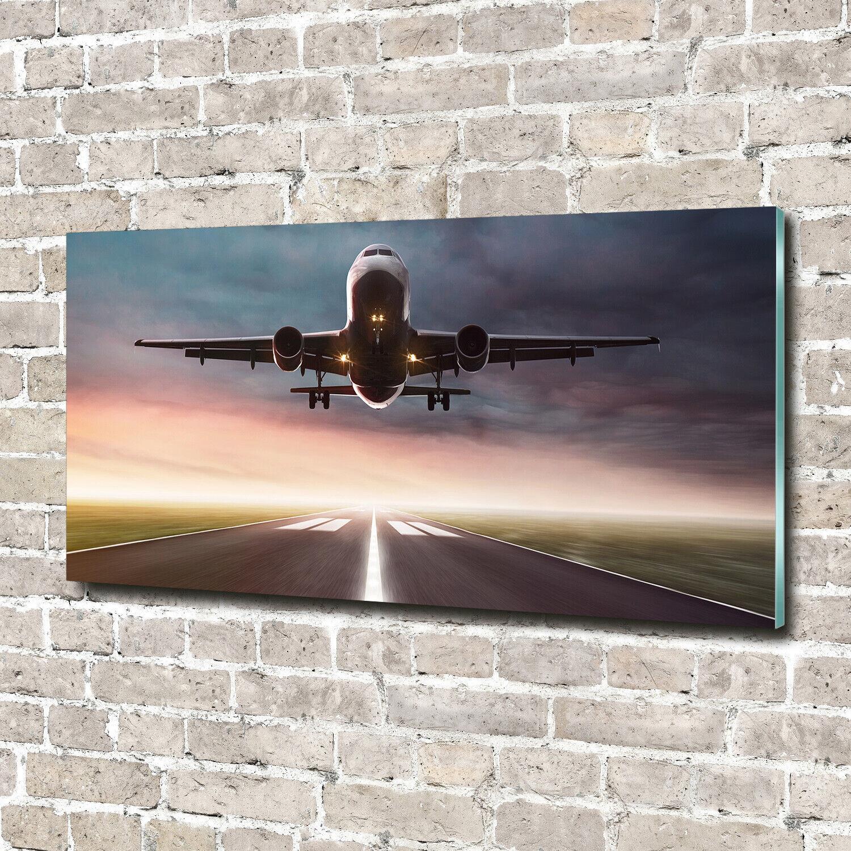Acrylglas-Bild Wandbilder Druck 140x70 Deko Fahrzeuge Startendes Flugzeug
