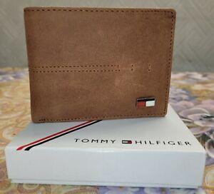 Tommy Hilfiger Mens Real Leather  RFID Wallet/Card Holder RRP £ 120.00