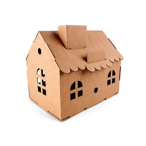 Details About House Money Box Fold Up Cardboard Diy 3d Model Hobby Construction Fun Kit