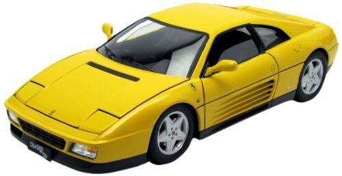 Ferrari 348 TB 1989 Yellow Elite Model 1 18 Model V7437 HOT WHEELS