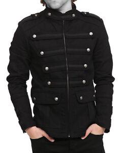 Gothic-Military-Band-Jacket-Black-Mens-Steampunk-Jacket-Goth-Vintage-Coat