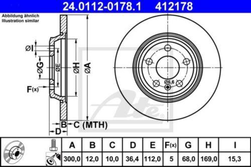 UAT Disques De Frein ø300mm UAT plaquette de frein arrière audi a4 a5 a6 a7 avant q5 Audi