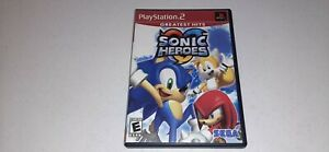 Sonic Heroes (Sony PlayStation 2, 2005) PS2 Greatest Hits Video Game No Manual