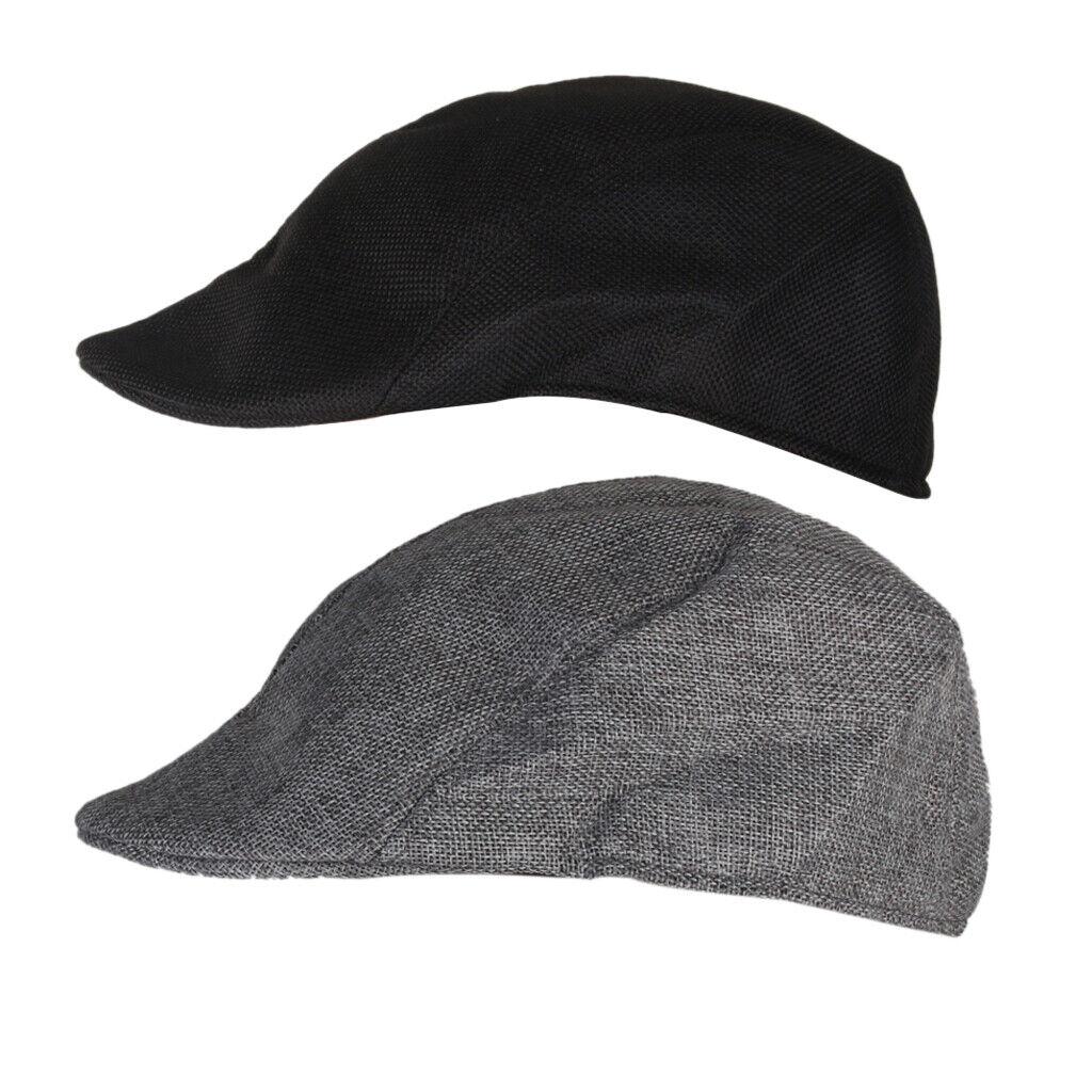 2 Stück Flache Kappe mit Visier Zeitung Verkäufer Hut Beanie Hut für Männer