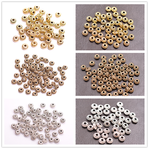 100Pcs Tibétain Argent//Or//Bronze roundelle Spacer Beads Jewelry Findings Z3023