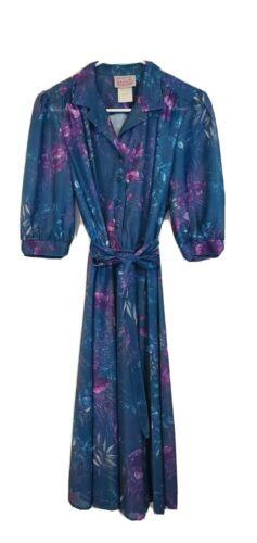 Vintage California LOOKS Size 80's Blue Purple Lar