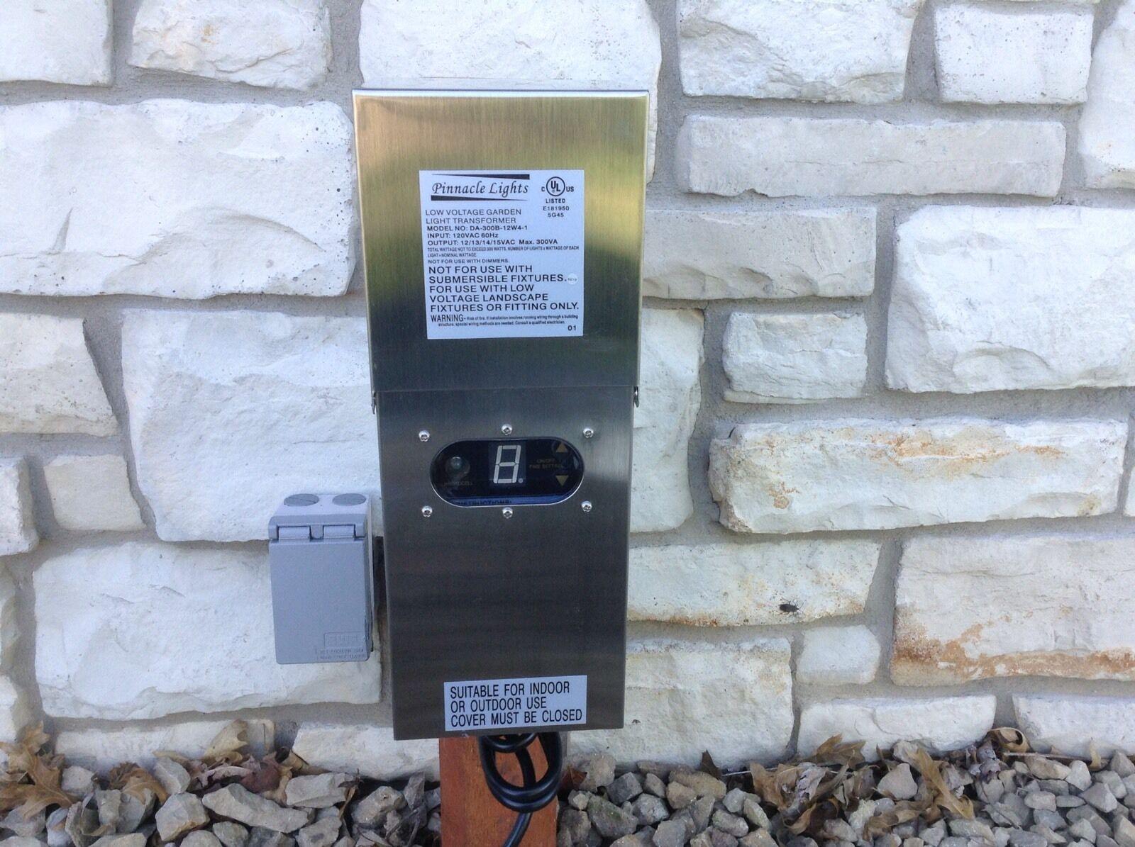 Wess 300 vatios transformador de baja tensión de Acero Inoxidable Iluminación de jardín de paisaje