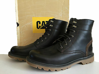 CATERPILLAR UTILITY 6 MENS DARK BROWN LEATHER LACE UPS BOOTS SIZE 13