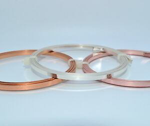 Flat-Tape-Craft-Wire-Non-Tarnish-3-x-0-75mm-Silver-Plated-Gold-Copper-1-Metre