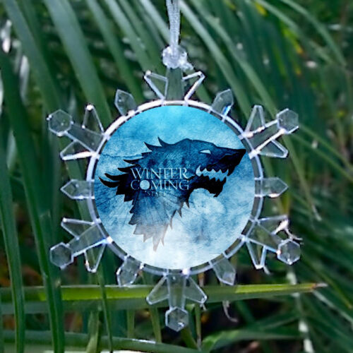 Game Of Thrones Winter Is Coming Snowflake Lit Holiday Christmas Tree Ornament