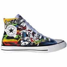 CONVERSE SCHUHE ALL STAR CHUCKS UK 11 EU 45 SUPERMAN WEISS ROT MARVEL DC COMIC
