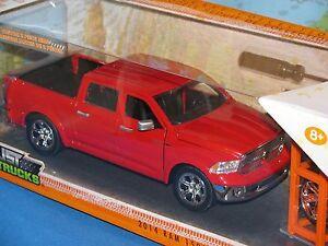 1-24-Jada-Just-Camion-2014-Dodge-Ram-1500-Rosso-4-x-extra-Ruota-Pressofuso-Nuovo