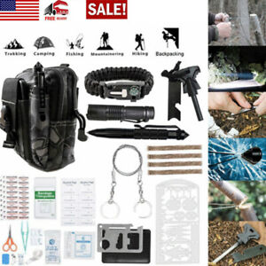 65 In 1 Outdoor Camping Survival Gear Kits Military Tactical Emergency EDC Tools
