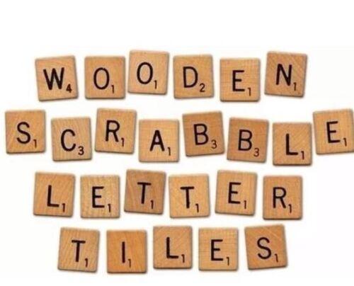 Individuelle Holzbuchstaben Zahlen Scrabble Spiel Buchstaben Stein Geschenk Spaß Lernspielzeug