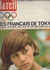 paris match n°808 JO 1964  tokyo kiki caron gottvallès jazy jane fonda j. greco
