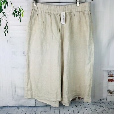 White James Perse NWT Women/'s Knit Stretch Gaucho Pants w// Banded Waist