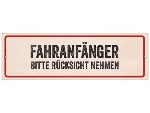 Geburtstag Bitte Rücksicht nehmen Kunststoffschild mit Saugnapf FAHRANFÄNGER