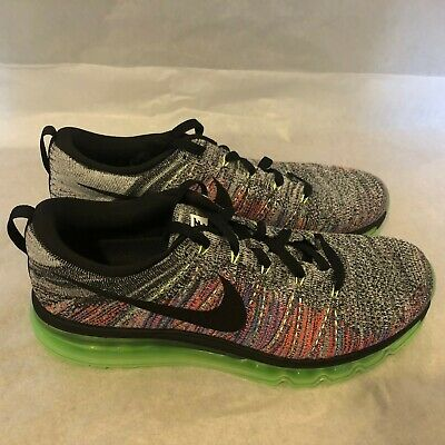 New Nike Flyknit Air Max Multicolor Glow Ghost Green 620469 103 Men's Size 9 888507626141 | eBay