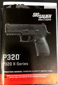 Details about Sig P320 320 X-Series Factory Owner's Manual & Parts List
