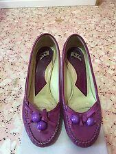 Fornarina scarpe decolté in vero cuoio viola decolte decoltè
