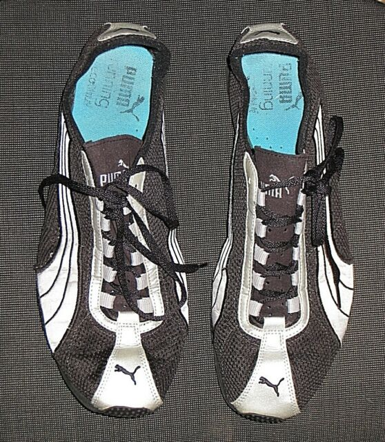 PUMA BLACK & SILVER RUNNING ECO ORTHOLITE SHOES MEN'S SIZE 12 46