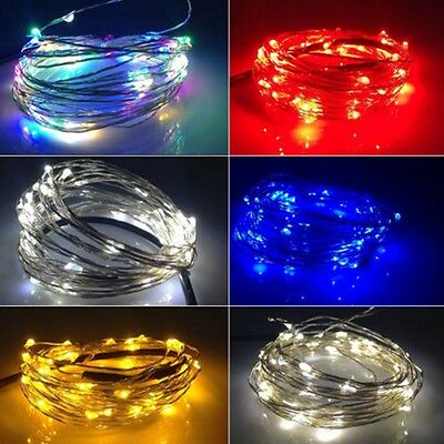 5M 16.4FT 50 LEDS Starry String Copper Wire Light For XMAS Wedding Party DC 12V