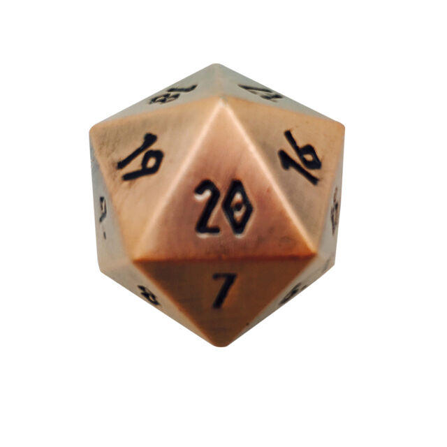 Countdown Foundry D20 Norse Dice Gnomish Copper 25mm Full Life Metal R3L45Aj