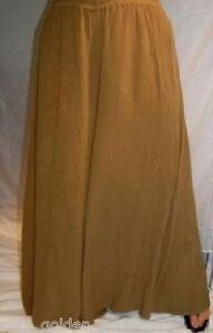 41617ede051 khaki palazzo pants split skirt gaucho ONE SIZE-M L XL 1X 2X 3X 4X ...