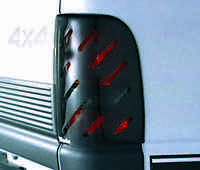 Slotted Smoke Tail Light Covers For 1994 - 1998 Ford Mustang Gt