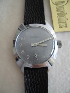 NOS-NEW-VINTAGE-ST-STEEL-MECHANICAL-HAND-WINDING-ANALOG-HORLOLUX-WATCH-1960-039-S