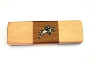 Horse Eventing Chequered Wooden Pen Set Black Ball Point Pens Horse Riding Gift bFqxUtjX-09170204-524914612