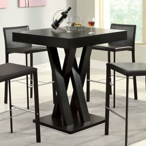 Miraculous Details About Dark Brown 36 High Pub Criss Cross Legs Pedestal Dining Table Home Furniture Download Free Architecture Designs Ferenbritishbridgeorg