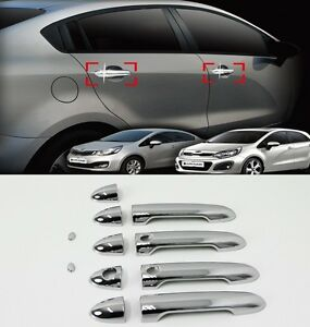 Chrome Exterior Door Handle Catch Molding For Kia Rio Rio5 Hatchback 2012 2016 Ebay