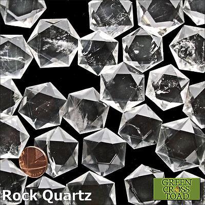 1 x Reiki Flat Stones Faceted Crystal Gridding Gemstone Energy Chakra Balancing