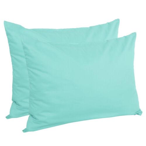Zippered Pillow Cases Pillowcases Standard Queen King Egyptian Cotton 4-Pack