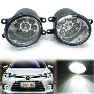 pair 9 led front l r fog light driving lamp for toyota corolla camry yaris lexus. Black Bedroom Furniture Sets. Home Design Ideas