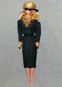 Barbie-1990s-Doll-Clothes-Fashion-BILLY-BOY-Black-Dress-Black-Nails-amp-Toes