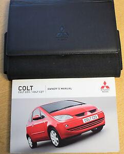 mitsubishi colt handbook owners manual wallet 2004 2008 pack 13124 rh ebay ie Mitsubishi RG Colt CZC 1970 Mitsubishi Colt
