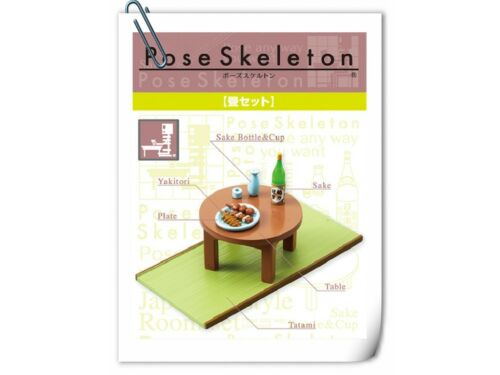 New Oct Rement Pose Skeleton Tatami Table set Tatami Table Plate