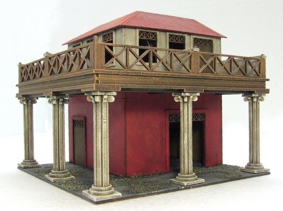 UPPER RANK CORNER  (Streets & Gangs of Rome)  28mm ASSEMBLED & PAINTED MDF
